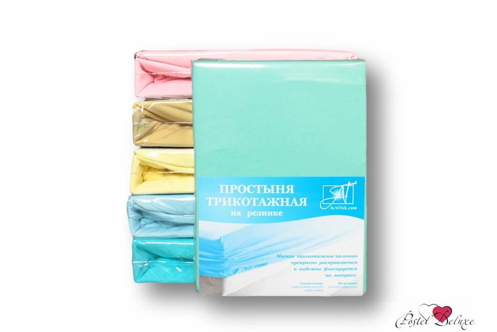 где купить  Простыни AlViTek Простыня на резинке Barrett Цвет: Ментоловый (180х200 см)  по лучшей цене