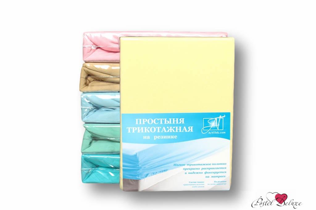 где купить  Простыни AlViTek Простыня на резинке Barrett Цвет: Нежно-Желтый (180х200 см)  по лучшей цене