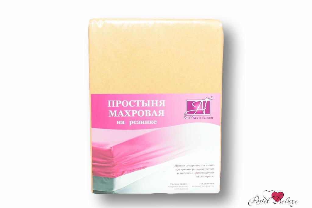 где купить  Простыни AlViTek Простыня на резинке Barrett Цвет: Персиковый (180х200 см)  по лучшей цене