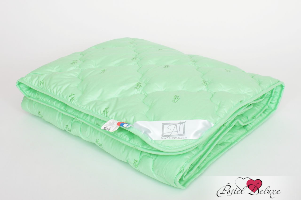 Одеяло AlViTekОдеяла<br>Одеяло стёганое очень лёгкое двуспальное (евро)<br>Размер: 200х220 см<br><br>Наполнитель: Бамбуковое волокно<br>Плотность наполнителя: 100 г/м2<br>Состав: Бамбуковое волокно, Полиэстер<br><br>Материал чехла: Перкаль<br>Состав: 100% Хлопок<br>Отделка: Кант<br><br>Производитель: AlViTek<br>Страна производства: Россия<br>Тип Упаковки: Чемодан ПВХ<br><br>Цвет чехла может отличаться от представленного на фотографии.<br><br>Тип: одеяло<br>Размерность комплекта: евростандарт<br>Материал: Перкаль<br>Размер наволочки: None<br>Подарочная упаковка: None<br>Для детей: нет<br>Ткань: Перкаль<br>Цвет: Зеленый