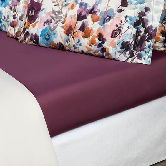 где купить Простыни Togas Простыня на резинке Аннабель Цвет: Фиолетовый (160х200) по лучшей цене