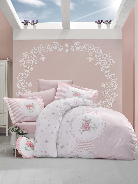 Постельное белье Clasy Постельное белье Anrosen Цвет: Розовый (2 сп. евро)