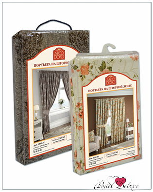 Шторы ARCODORO Классические шторы Клевер Цвет шторы: Белый, Цвет вышивки: Коричневый arcodoro arcodoro классические шторы города