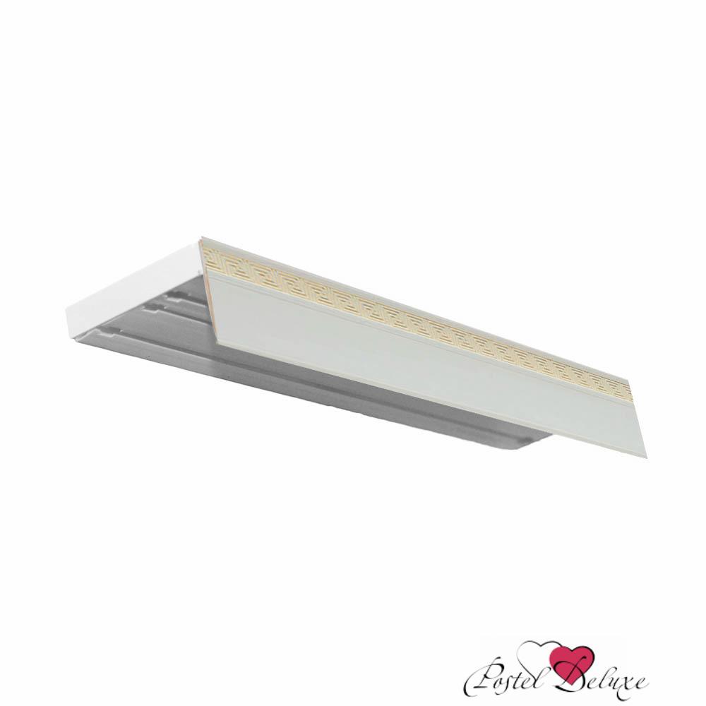 Карнизы ARCODOROРазмер (длина): 340 см<br>Диаметр трубы: 17х87 мм<br>Материал карниза: Пластик (ПВХ)<br>Тип карниза: Трехрядный карниз<br>Форма карниза: Прямой карниз<br>Вид изделия: Профиль (Шина)<br>Крепление: Потолочный карниз<br><br>Карниз без поворотов, с блендой высотой 50 мм, в индивидуальной упаковке.<br><br>Комплектация: <br>- 3-х рядная шина, <br>- бленда (высота 50 мм, материал - Пластик), <br>- крючки-ролики, <br>- стопоры, <br>- дюбели и шурупы.<br><br>Производитель: ARCODORO<br>Cтрана производства: Россия<br><br>Тип: Карнизы<br>Размерность комплекта: Карнизы<br>Материал: Пластик<br>Размер наволочки: None<br>Подарочная упаковка: Карнизы<br>Для детей: Карнизы<br>Ткань: Пластик<br>Цвет: Белый,Золотой