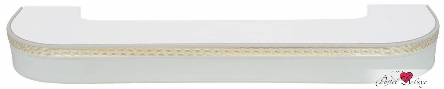Карнизы ARCODOROРазмер (длина): 260 см<br>Диаметр трубы: 17х77 мм<br>Материал карниза: Пластик (ПВХ)<br>Тип карниза: Двухрядный карниз<br>Форма карниза: Фигурный карниз<br>Вид изделия: Профиль (Шина)<br>Крепление: Потолочный карниз<br><br>Карниз с поворотами (по бокам конструкции), с блендой высотой 50 мм, в индивидуальной упаковке.<br><br>Комплектация: <br>- 2-х рядная шина, <br>- бленда (высота 50 мм, материал - Пластик), <br>- крючки-ролики, <br>- стопоры, <br>- дюбели и шурупы.<br><br>Производитель: ARCODORO<br>Cтрана производства: Россия<br><br>Тип: Карнизы<br>Размерность комплекта: Карнизы<br>Материал: Пластик<br>Размер наволочки: None<br>Подарочная упаковка: Карнизы<br>Для детей: Карнизы<br>Ткань: Пластик<br>Цвет: Белый,Золотой