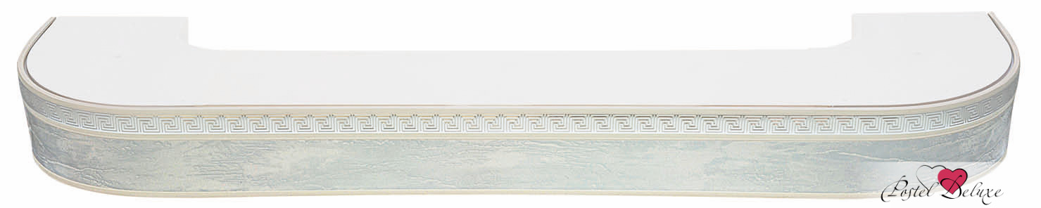 Карнизы и аксессуары для штор ARCODORO Карниз Греция Цвет: Мрамор Хром (300 см)