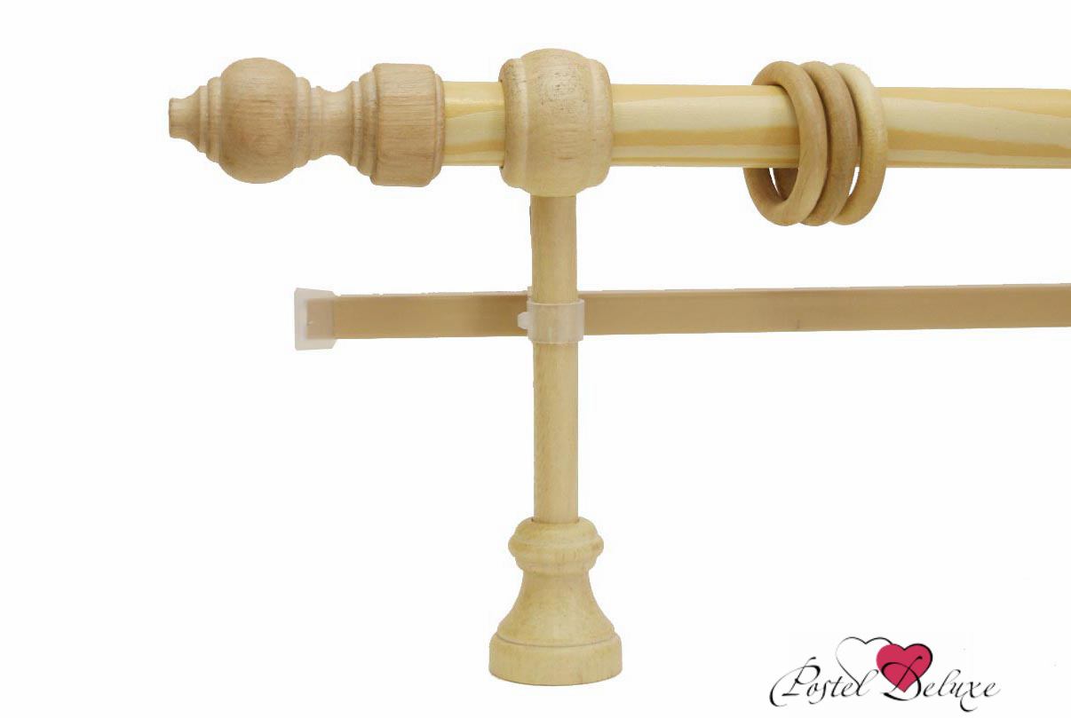 Карнизы ARCODOROРазмер (длина): 240 см<br>Диаметр трубы: 28 мм<br>Материал карниза: Дерево<br>Тип карниза: Двухрядный карниз<br>Форма карниза: Прямой карниз<br>Вид изделия: Гладкий карниз<br>Крепление: Настенный карниз<br><br>Штанга карниза и комплектующие выполнены из дерева. U-шина (для гардин) выполнена из металла с комплектующими из пластика.<br><br>Комплектация:<br>- Карниз<br>- Кронштейны<br>- Кольца (пластиковые крючки в комплекте не идут)<br>- Наконечники для карниза<br>- U-шина<br>- заглушки для U-шины<br><br>Производитель: ARCODORO<br>Cтрана производства: Россия<br><br>Тип: Карнизы<br>Размерность комплекта: Карнизы<br>Материал: Дерево<br>Размер наволочки: None<br>Подарочная упаковка: Карнизы<br>Для детей: Карнизы<br>Ткань: Дерево<br>Цвет: None