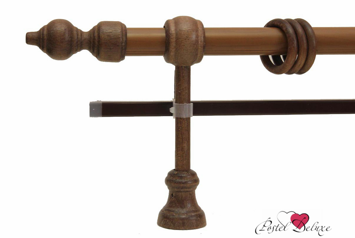 Карнизы ARCODOROРазмер (длина): 220 см<br>Диаметр трубы: 28 мм<br>Материал карниза: Дерево,Металл<br>Тип карниза: Двухрядный карниз<br>Форма карниза: Прямой карниз<br>Вид изделия: Гладкий карниз<br>Крепление: Настенный карниз<br><br>Штанга карниза выполнена из металла, комплектующие выполнены из дерева.<br><br>Комплектация:<br>- Карниз<br>- Кронштейны<br>- Кольца с зажимами для штор<br>- Наконечники для карниза<br>- U-шина<br>- заглушки для U-шины<br><br>Производитель: ARCODORO<br>Cтрана производства: Россия<br><br>Тип: Карнизы<br>Размерность комплекта: Карнизы<br>Материал: Дерево,Металл<br>Размер наволочки: None<br>Подарочная упаковка: Карнизы<br>Для детей: Карнизы<br>Ткань: Дерево,Металл<br>Цвет: None