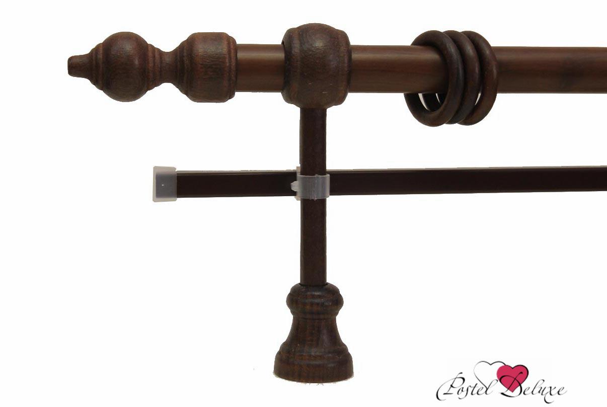Карнизы ARCODOROРазмер (длина): 240 см<br>Диаметр трубы: 28 мм<br>Материал карниза: Дерево,Металл<br>Тип карниза: Двухрядный карниз<br>Форма карниза: Прямой карниз<br>Вид изделия: Гладкий карниз<br>Крепление: Настенный карниз<br><br>Штанга карниза выполнена из металла, комплектующие выполнены из дерева.<br><br>Комплектация:<br>- Карниз<br>- Кронштейны<br>- Кольца с зажимами для штор<br>- Наконечники для карниза<br>- U-шина<br>- заглушки для U-шины<br><br>Производитель: ARCODORO<br>Cтрана производства: Россия<br><br>Тип: Карнизы<br>Размерность комплекта: Карнизы<br>Материал: Дерево,Металл<br>Размер наволочки: None<br>Подарочная упаковка: Карнизы<br>Для детей: Карнизы<br>Ткань: Дерево,Металл<br>Цвет: None