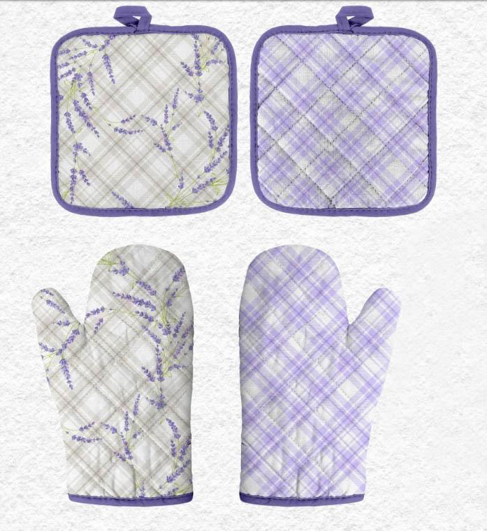Кухонный набор Романтика Романтика Кухонный набор прихватка + рукавичка Аромат Лаванды rom214763
