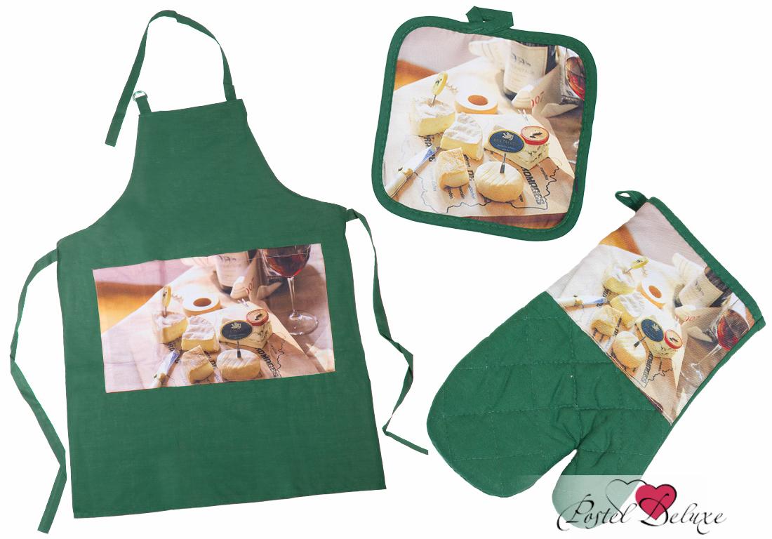 Arya Набор фартук + рукавица + прихватка Bread Цвет: Зеленый