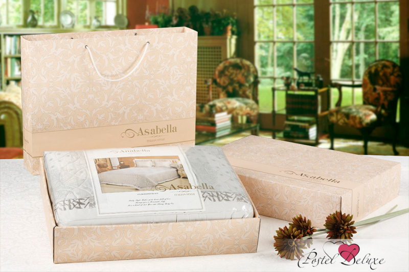 где купить  Постельное белье Asabella Постельное белье Leda  (2 сп. евро)  по лучшей цене