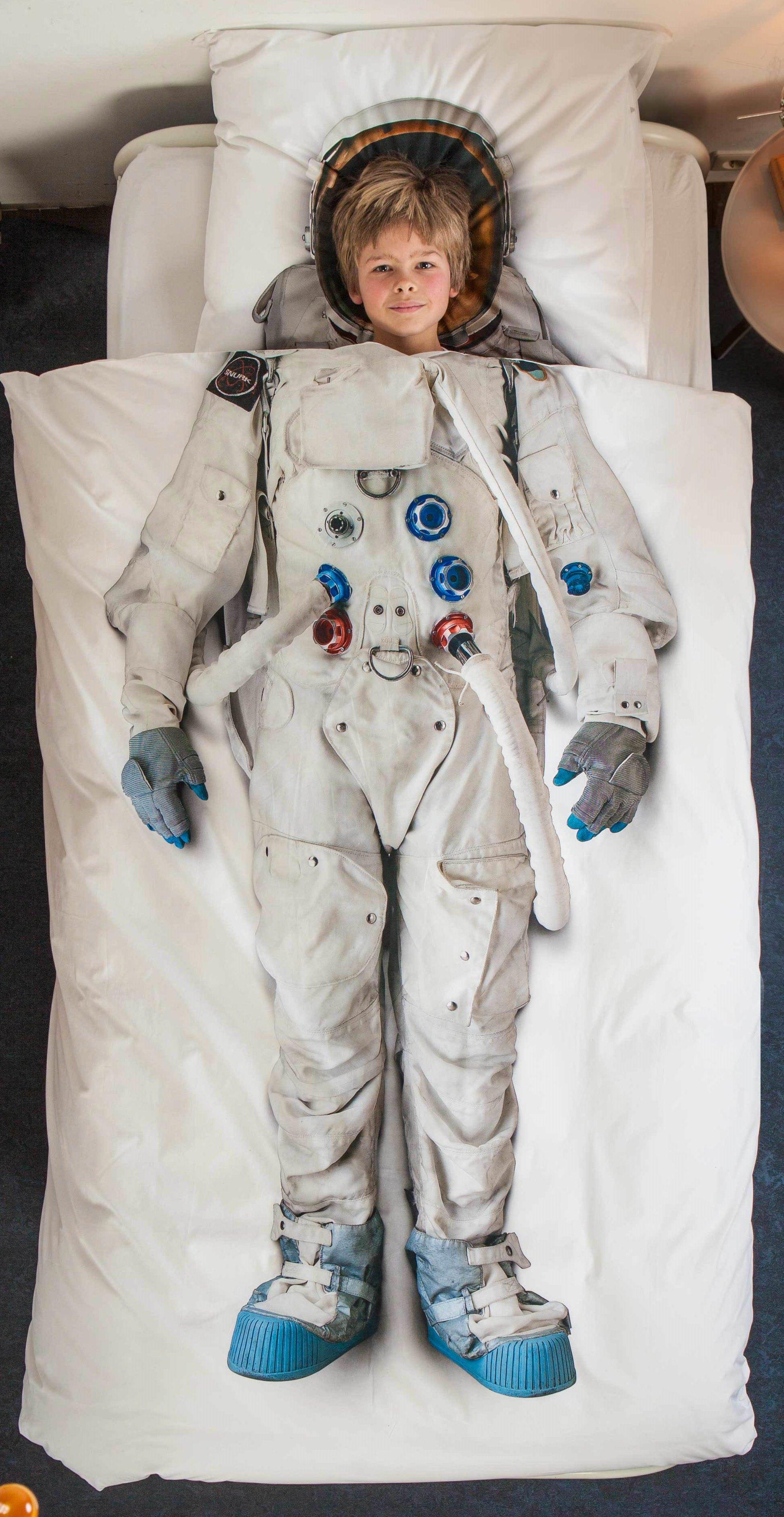 Детские Пододеяльники Snurk Детский пододеяльник Астронавт (150х200 см)