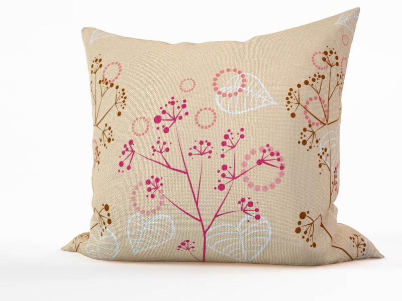 где купить  Декоративные подушки StickButik Декоративная подушка Белые Листья (45х45)  по лучшей цене