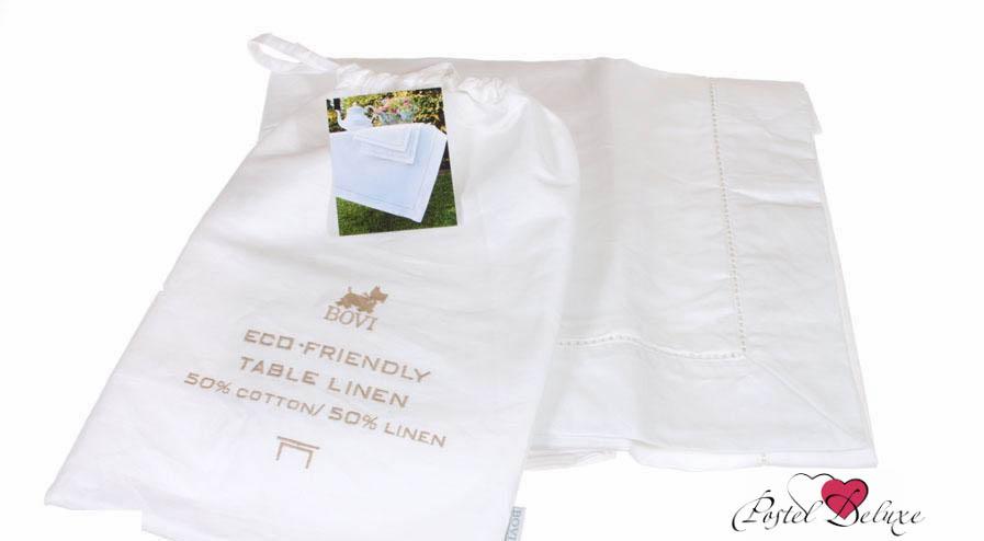 Скатерти и салфетки BOVI Скатерть Emy Цвет: Белый (160х260 см)