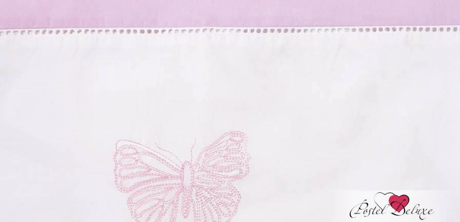 Детское Постельное белье BOVI Постельное белье Бабочки Цвет: Белый-Лаванда (100х140 см)