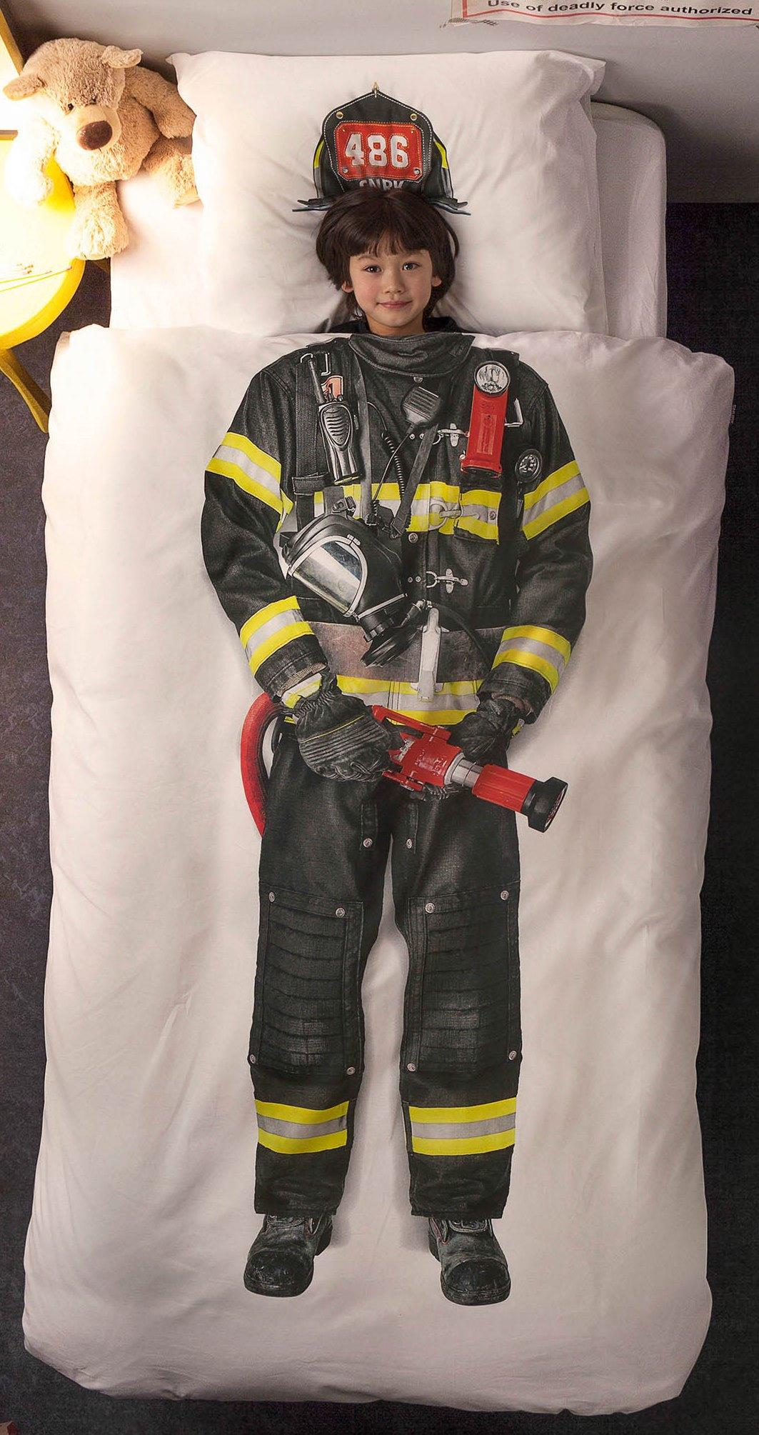 Детские Пододеяльники Snurk Детский пододеяльник Пожарный (150х200 см)