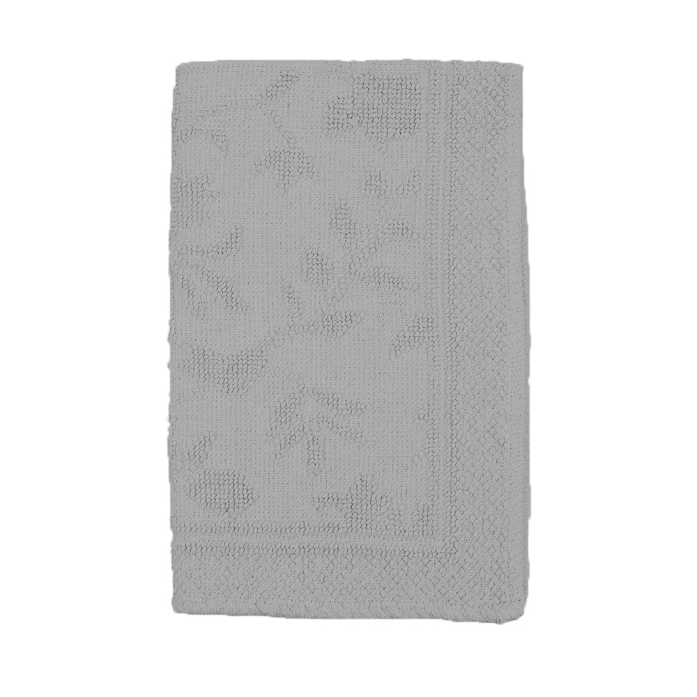 Аксессуары для ванной и туалета Arloni Коврик для ванной Кармен Цвет: Серебро (50х80 см) arloni коврик для ванной лейс цвет белый 50х50 см