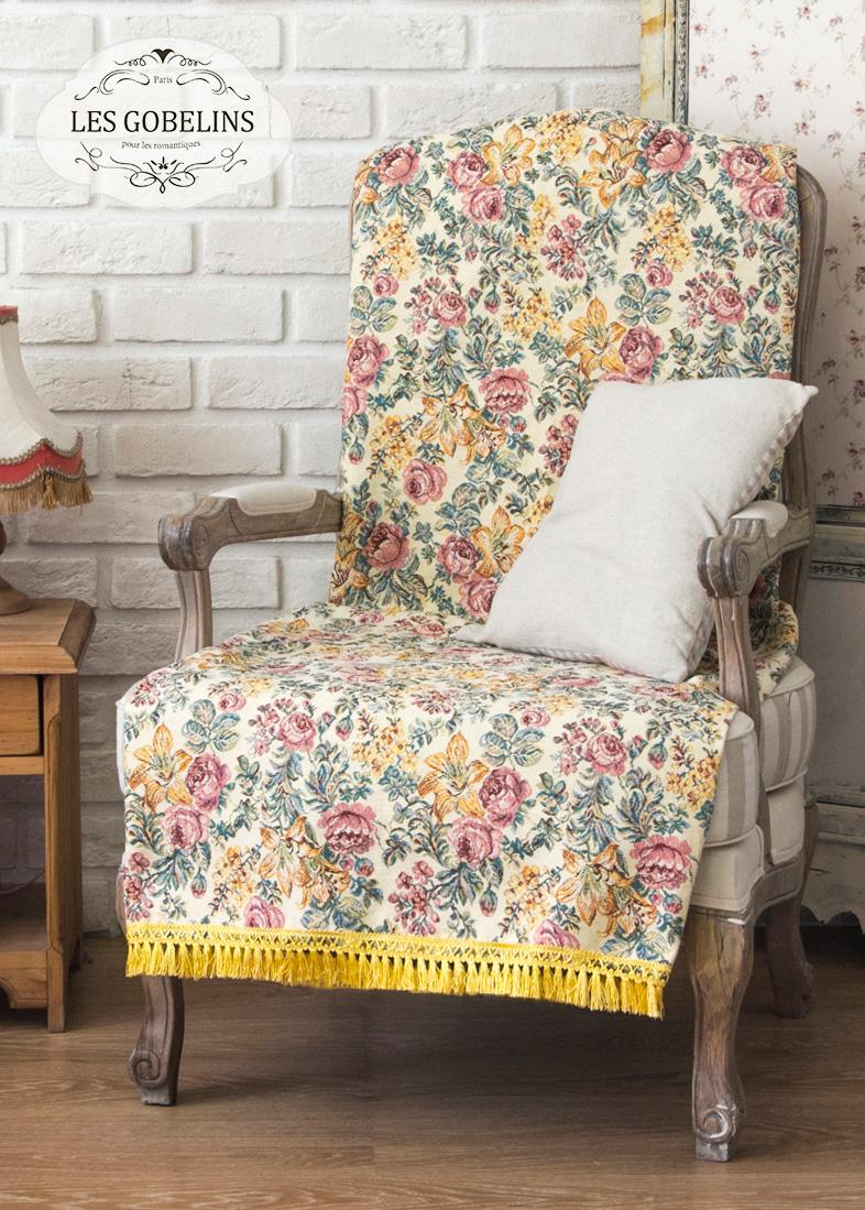 где купить  Покрывало Les Gobelins Накидка на кресло Arrangement De Fleurs (90х160 см)  по лучшей цене