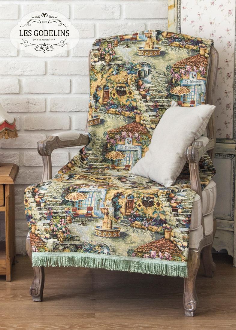 Покрывало Les Gobelins Накидка на кресло Jardin D'Eden (90х160 см)  пледы и покрывала les gobelins накидка на кресло muse 90х160 см