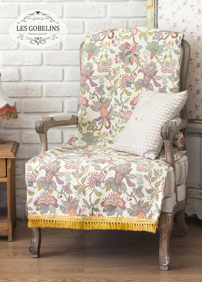 Покрывало Les Gobelins Накидка на кресло Loche (90х160 см)  пледы и покрывала les gobelins накидка на кресло muse 90х160 см