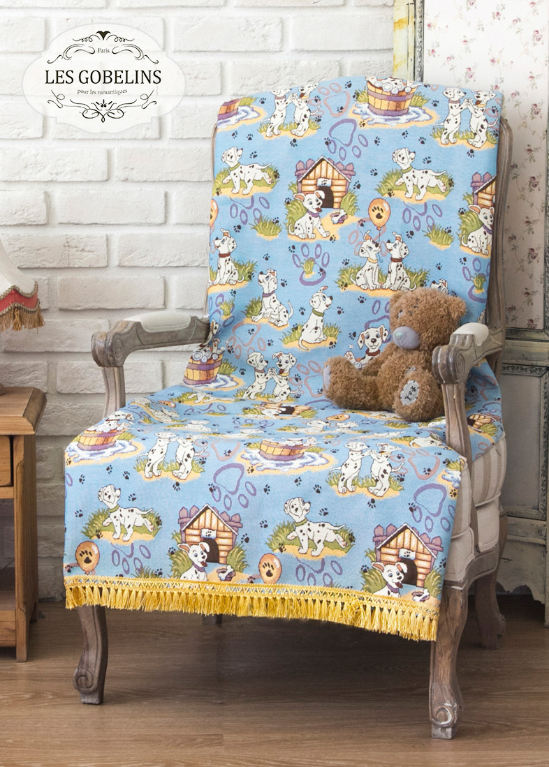 где купить  Детские покрывала, подушки, одеяла Les Gobelins Детская Накидка на кресло Dalmatiens (80х180 см)  по лучшей цене
