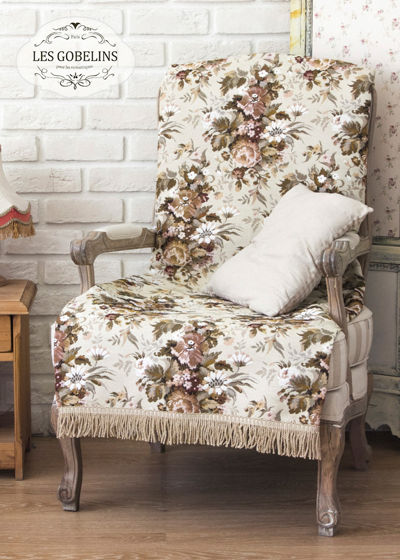где купить  Покрывало Les Gobelins Накидка на кресло Terrain Russe (80х200 см)  по лучшей цене