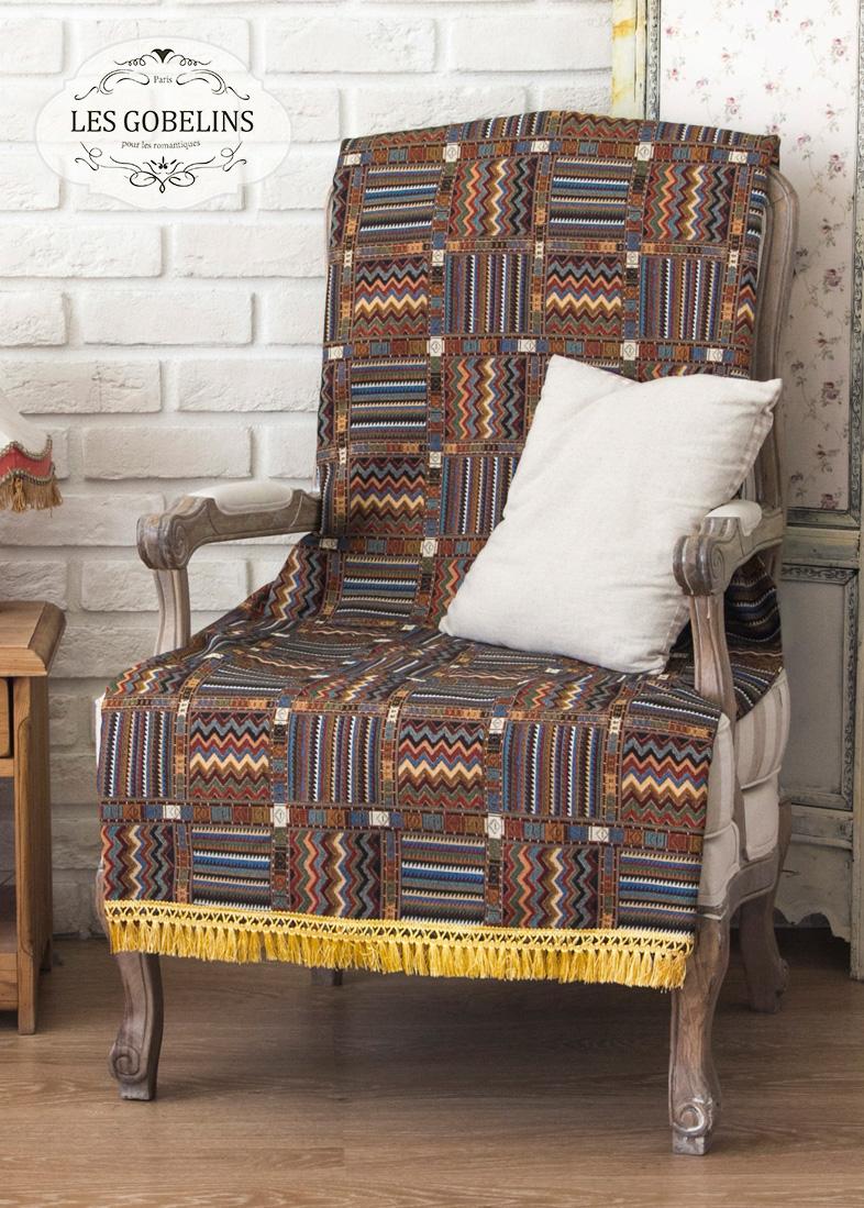 где купить  Покрывало Les Gobelins Накидка на кресло Mexique (60х190 см)  по лучшей цене
