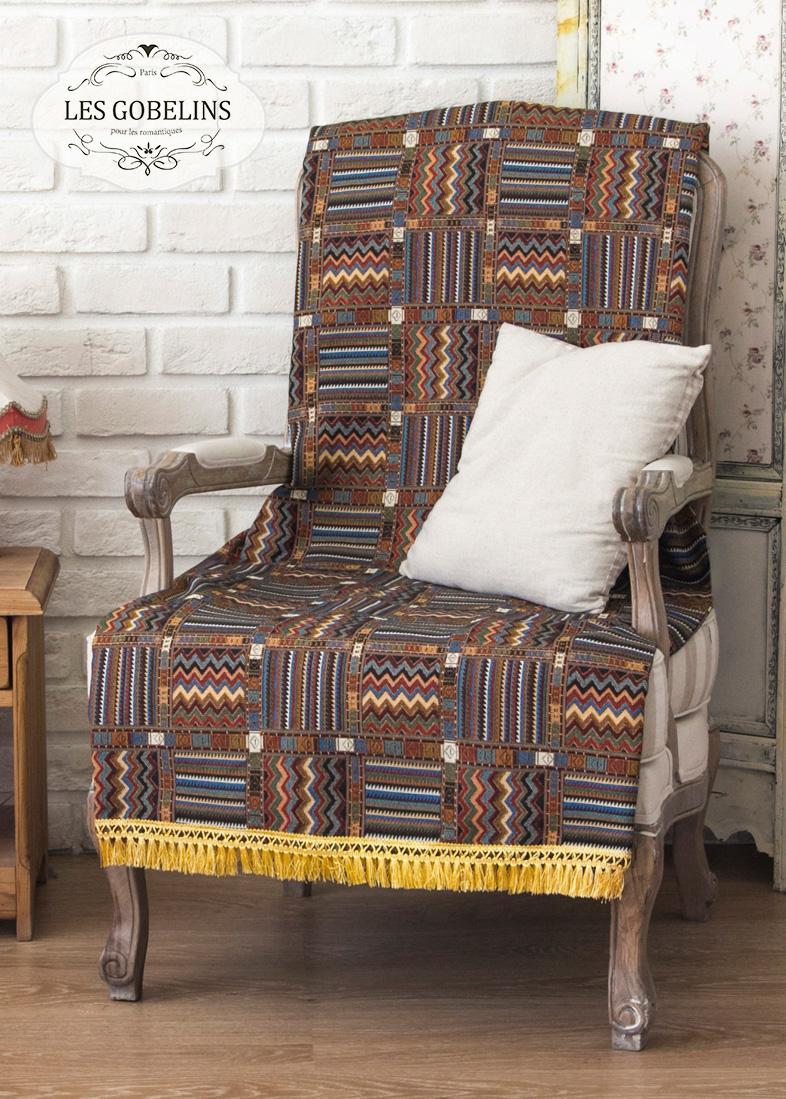 где купить  Покрывало Les Gobelins Накидка на кресло Mexique (100х140 см)  по лучшей цене