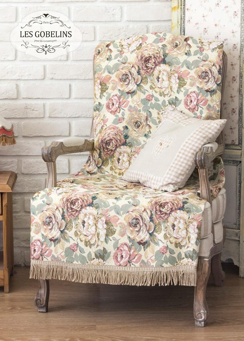 где купить  Покрывало Les Gobelins Накидка на кресло Fleurs Hollandais (90х180 см)  по лучшей цене