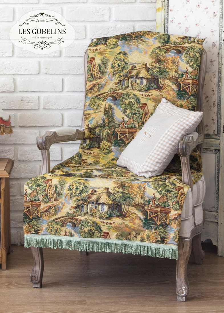 Покрывало Les Gobelins Накидка на кресло Provence (50х190 см)