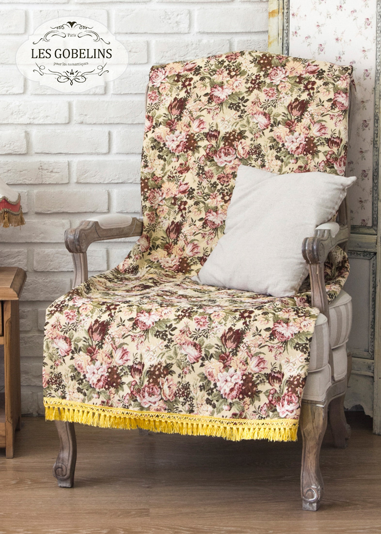 где купить  Покрывало Les Gobelins Накидка на кресло Bouquet Francais (80х130 см)  по лучшей цене