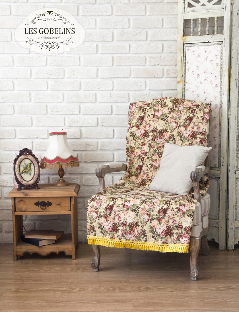 Фотография Les Gobelins Накидка на кресло Bouquet Francais (60х180 см)