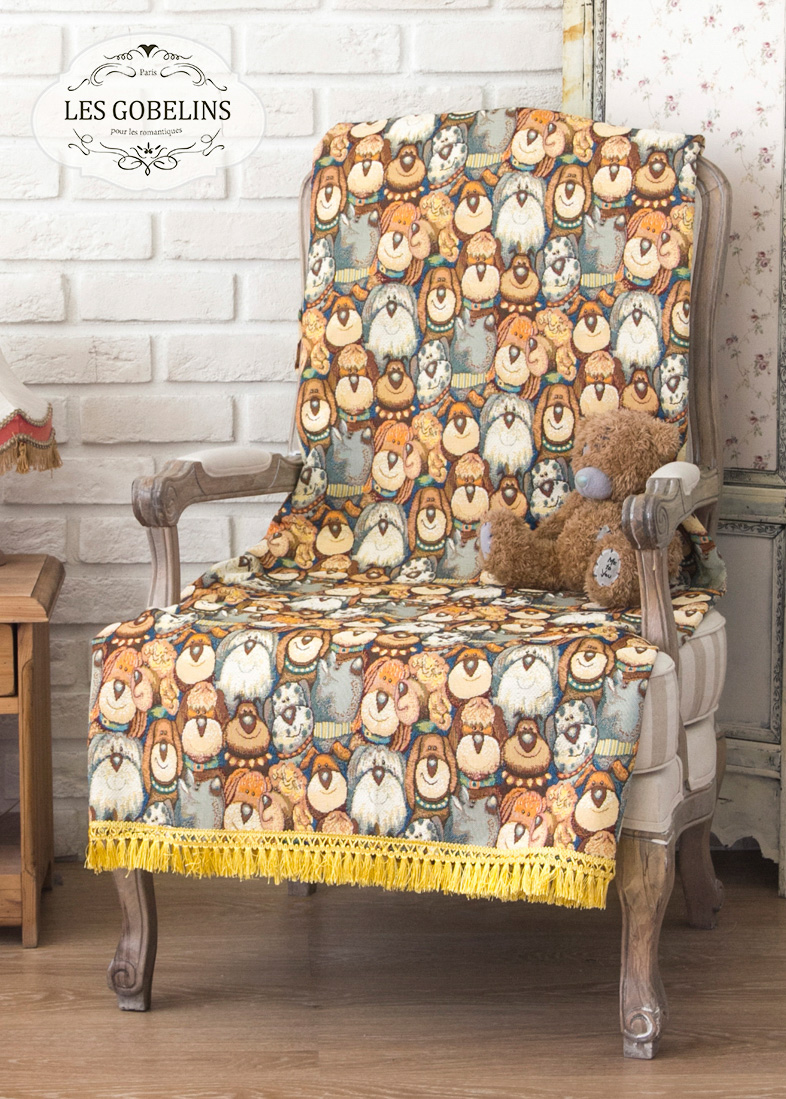Детские покрывала, подушки, одеяла Les Gobelins Детская Накидка на кресло Chiens (50х180 см)