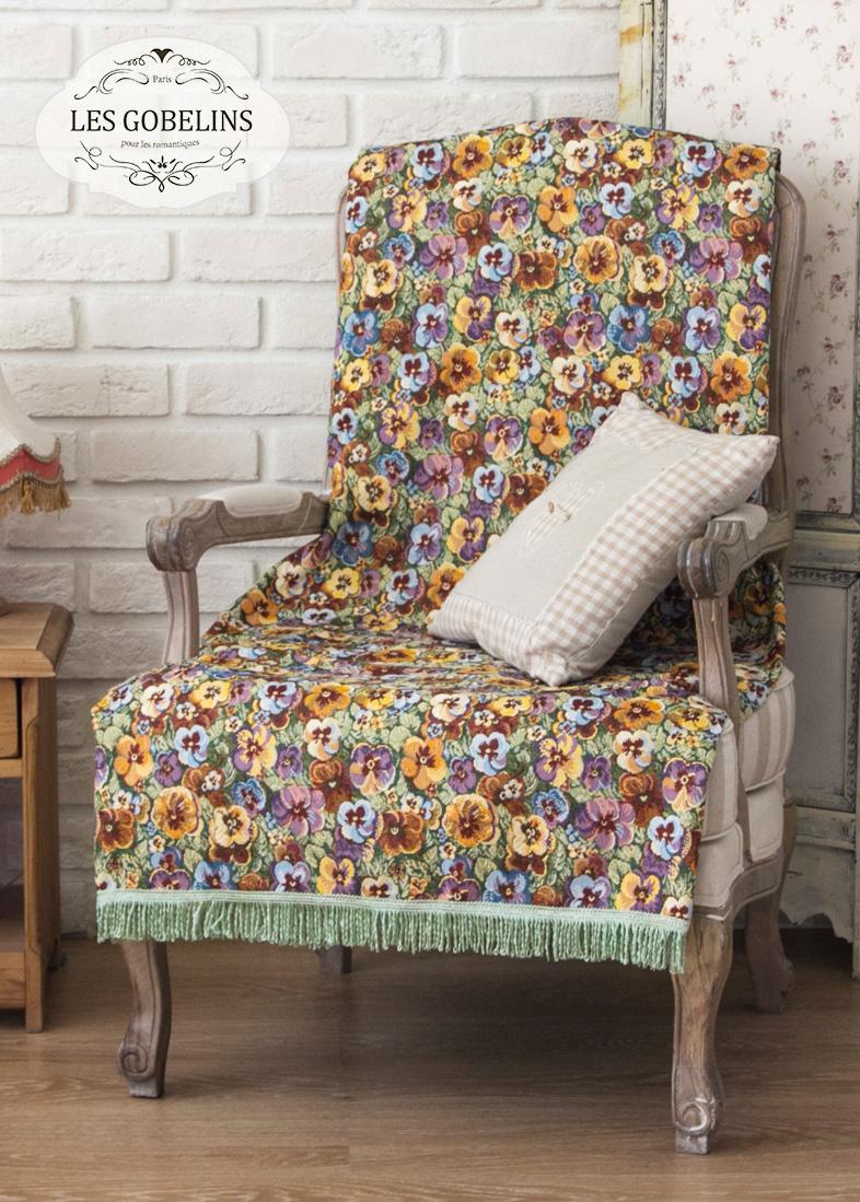 где купить  Покрывало Les Gobelins Накидка на кресло Fleurs De Jardin (100х180 см)  по лучшей цене