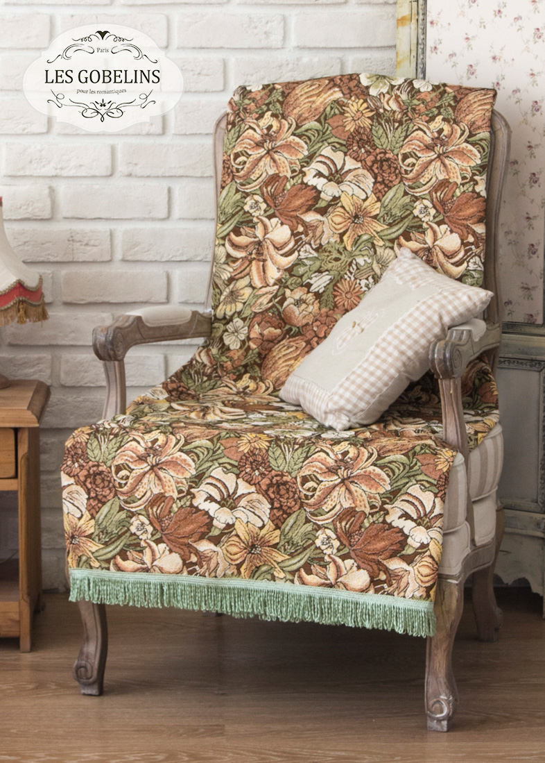 где купить  Покрывало Les Gobelins Накидка на кресло Art Nouveau Lily (80х140 см)  по лучшей цене