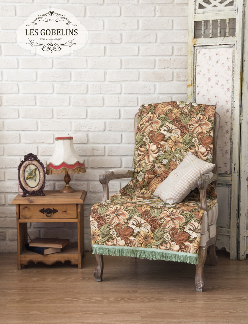 где купить Покрывало Les Gobelins Накидка на кресло Art Nouveau Lily (100х140 см) по лучшей цене