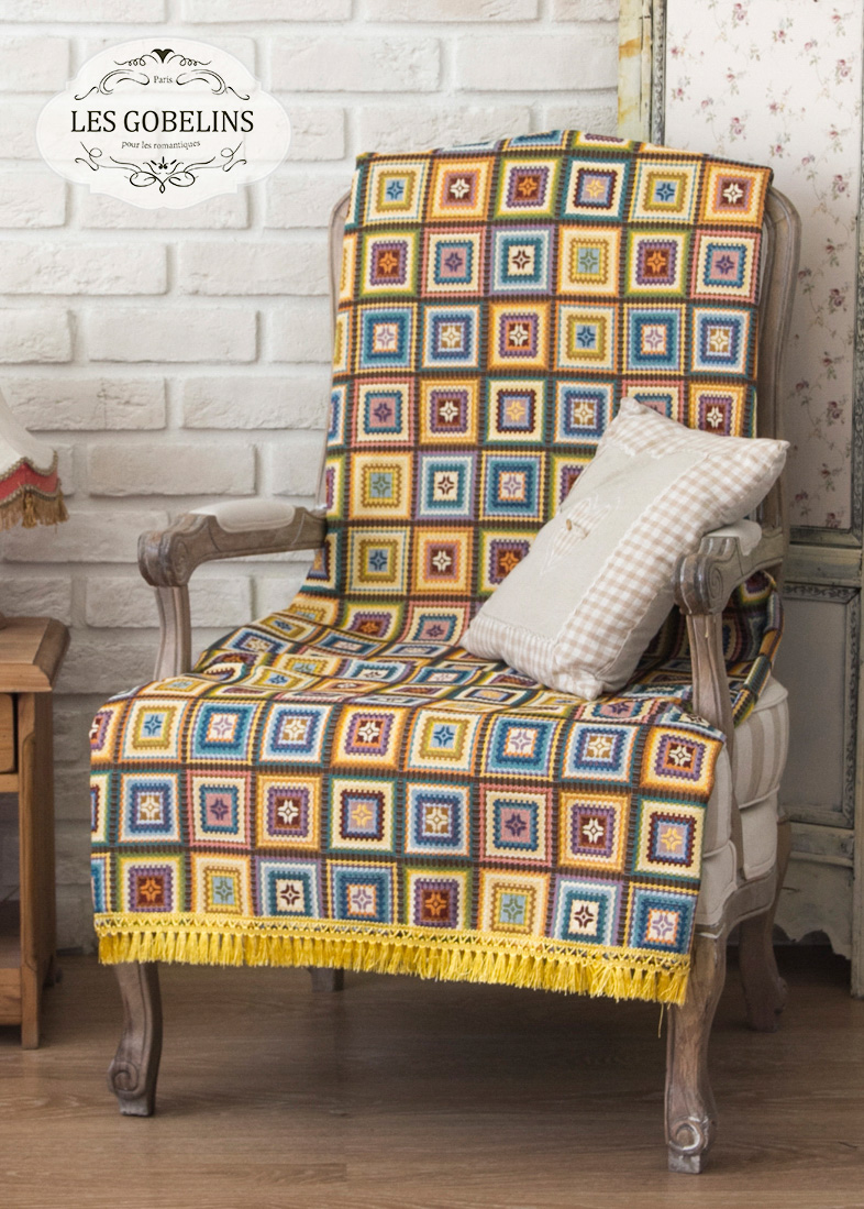 Покрывало Les Gobelins Накидка на кресло Labyrinthe (100х170 см)