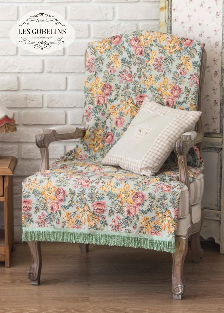 где купить  Покрывало Les Gobelins Накидка на кресло Arrangement De Fleurs (90х150 см)  по лучшей цене