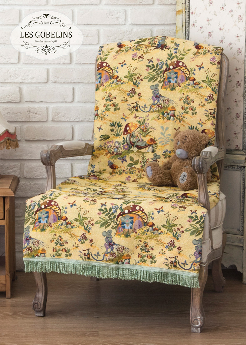 Детские покрывала, подушки, одеяла Les Gobelins Детская Накидка на кресло Souris Drole (80х180 см)