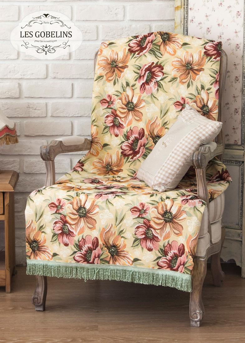 где купить  Покрывало Les Gobelins Накидка на кресло Coquelicot (80х150 см)  по лучшей цене