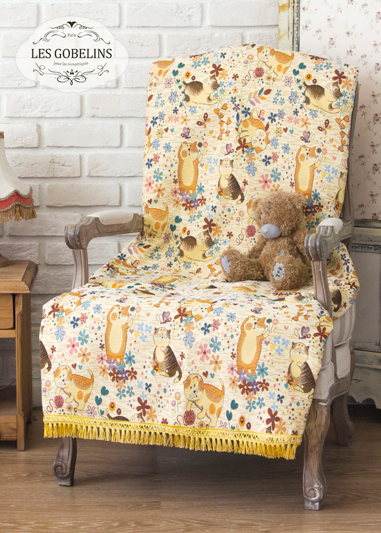 Детские покрывала, подушки, одеяла Les Gobelins Детская Накидка на кресло Chatons Animes (60х190 см)