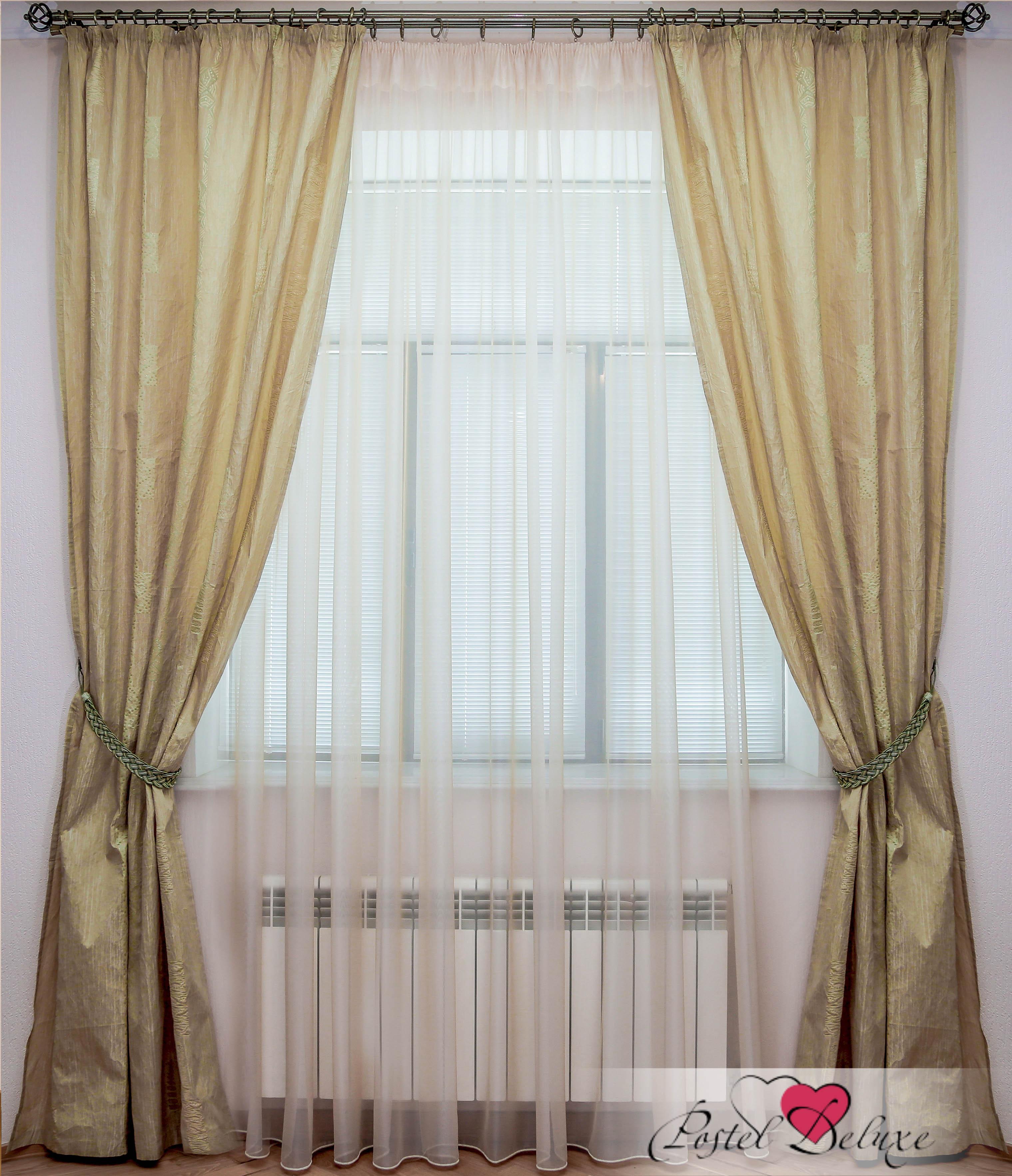 Шторы Interiotex Классические шторы Илона Цвет: Оливковый