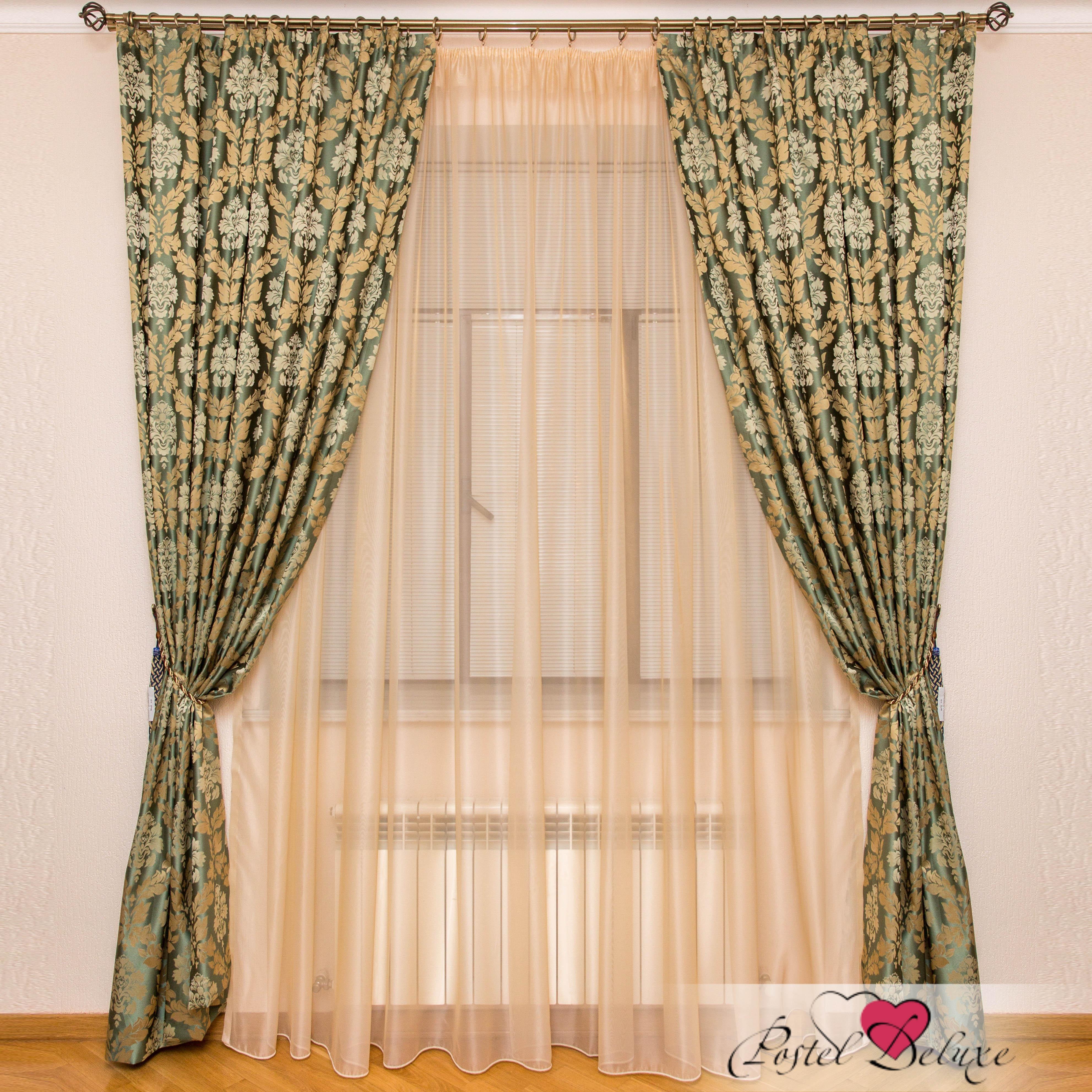 Шторы Interiotex Классические шторы Кальяри Цвет: Зеленый