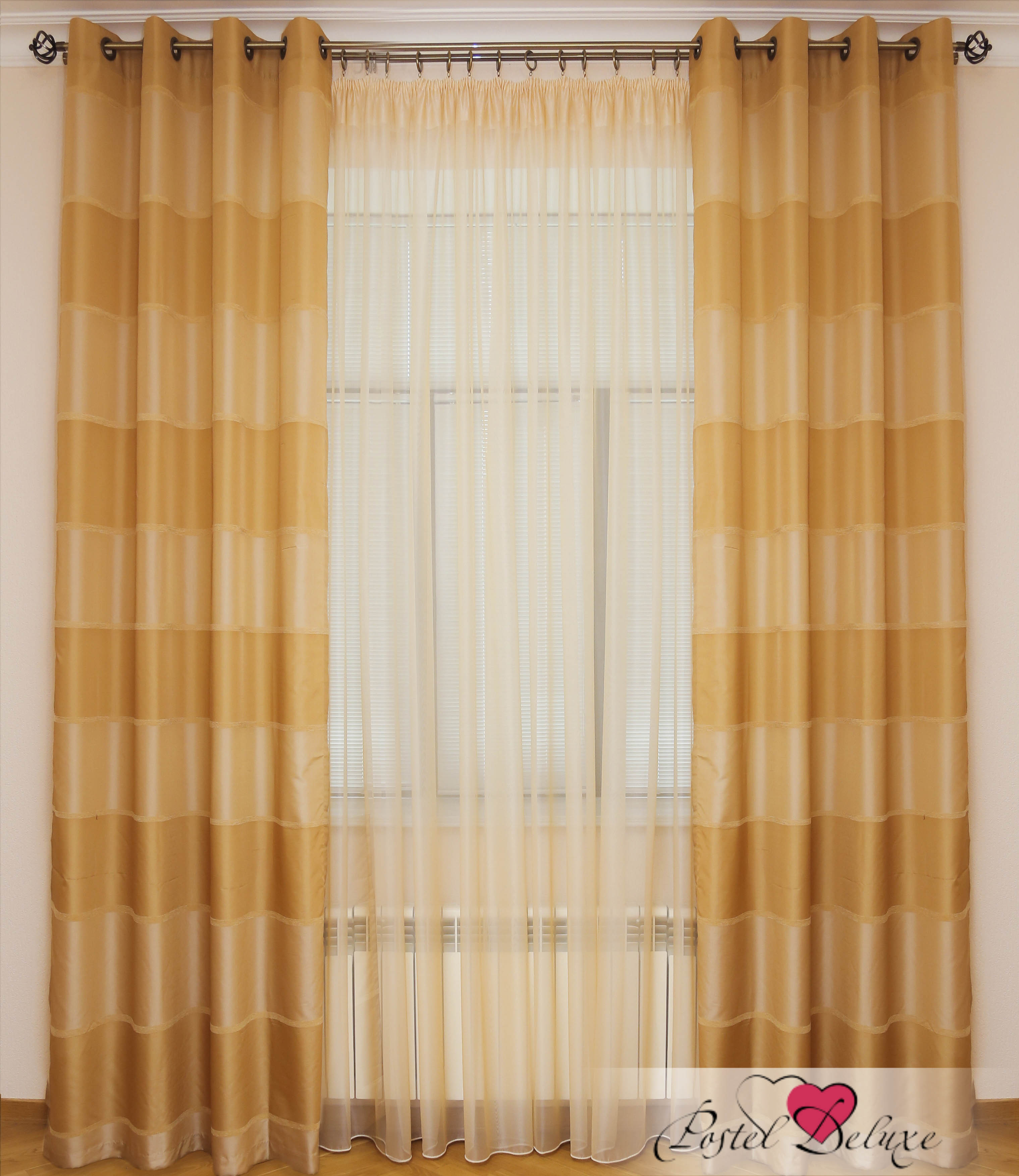 Шторы Interiotex Классические шторы Энтони Цвет: Кремовый