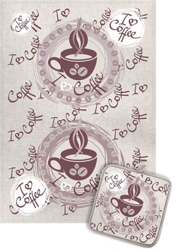 Кухонный набор Гранд-Стиль Гранд-Стиль Кухонный набор из 2 полотенец I love coffe gst190875