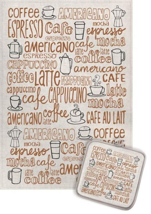 Кухонный набор Гранд-Стиль Гранд-Стиль Кухонное полотенце Кофейные виды gst190821