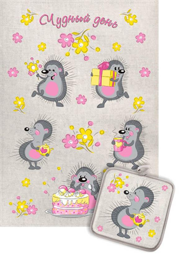Кухонный набор Гранд-Стиль Гранд-Стиль Кухонное полотенце Ежики Чудный день gst190811