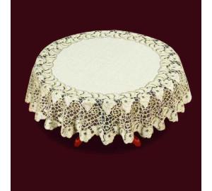 Скатерть Coralie Цвет: Кремовый/Золотой (круглая 140 см)