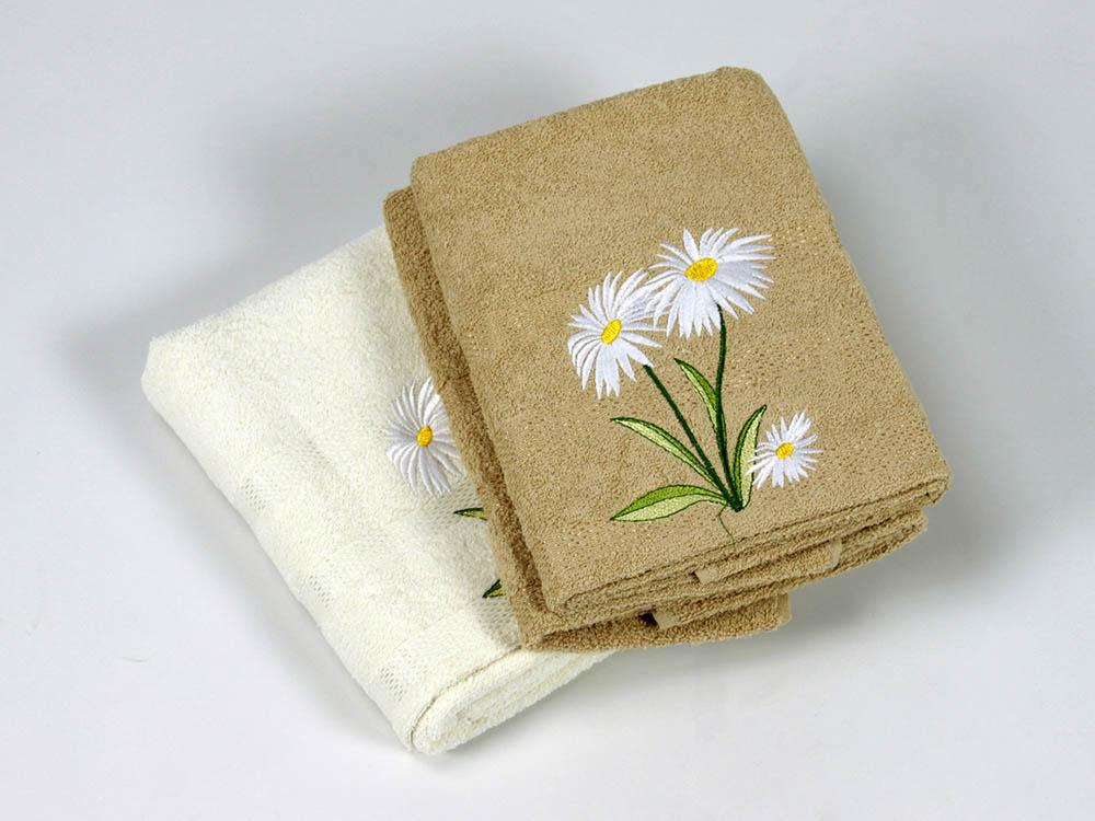 где купить  Полотенца Cottonist Полотенце Ромашка Цвет: Кремовый,Коричневый (Набор)  по лучшей цене
